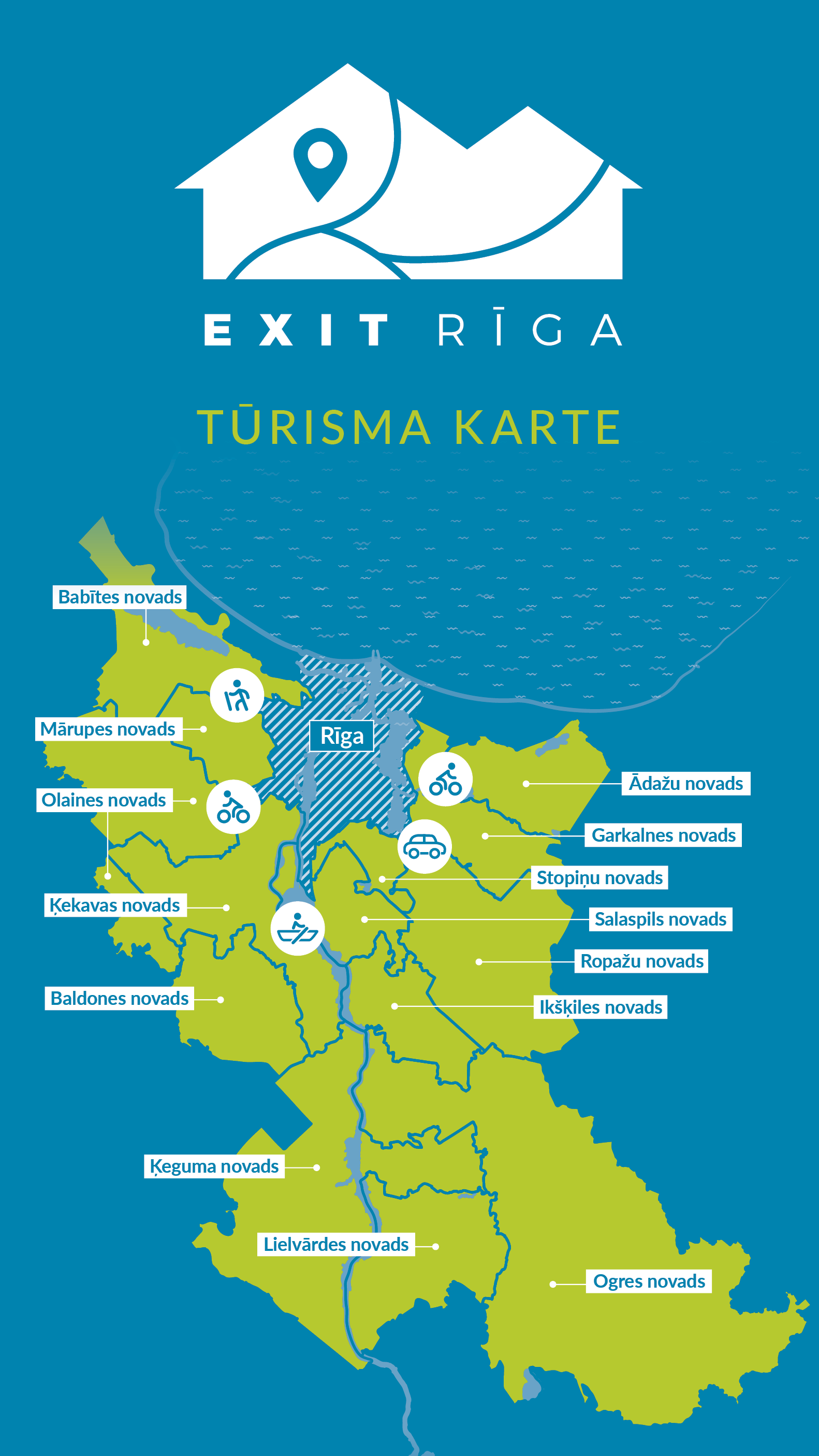 EXIT RĪGA TOURISM MAP